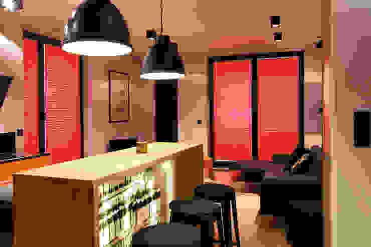 apartament Warszawa Włochy: styl , w kategorii Jadalnia zaprojektowany przez SHOQ STUDIO Architektura i wnętrza,Nowoczesny