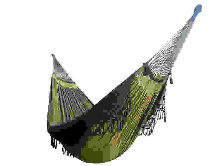 Hamaca Colgante Familiar Brasileña de Diseño Verde de Brasilchic Moderno