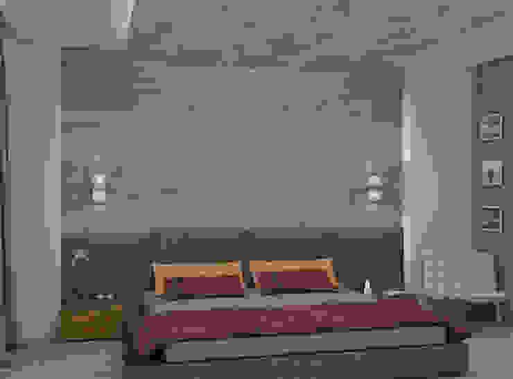 Дизайн спальни с гардеробной комнатой. Спальня в стиле минимализм от Aleksandra Kostyuchkova Минимализм