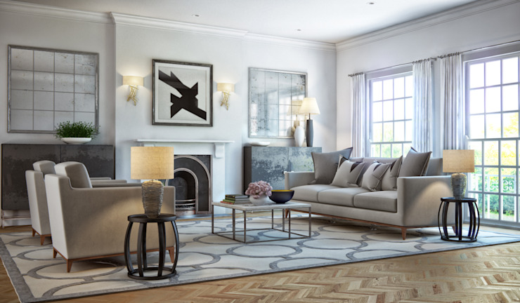 Formal living room Classic style living room by LLI Design Classic