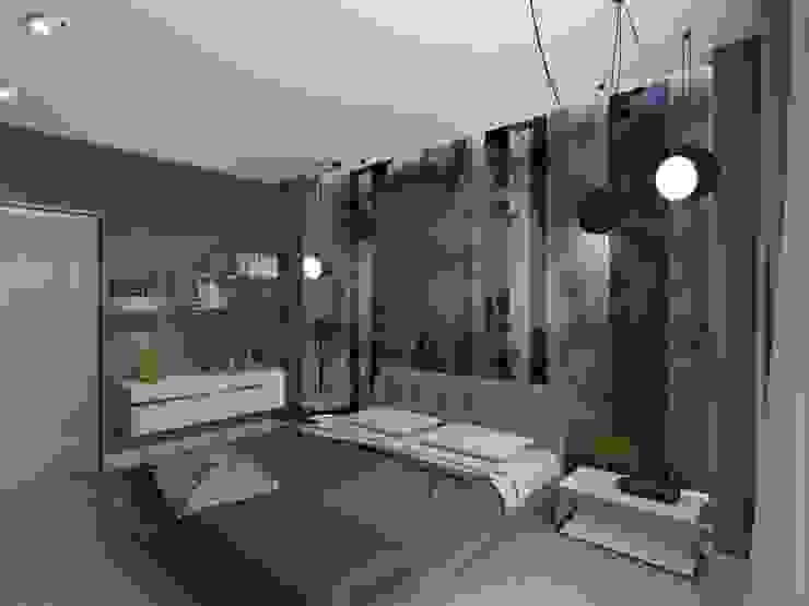 Спальня. Визуализация интерьера. Спальня в стиле минимализм от Aleksandra Kostyuchkova Минимализм