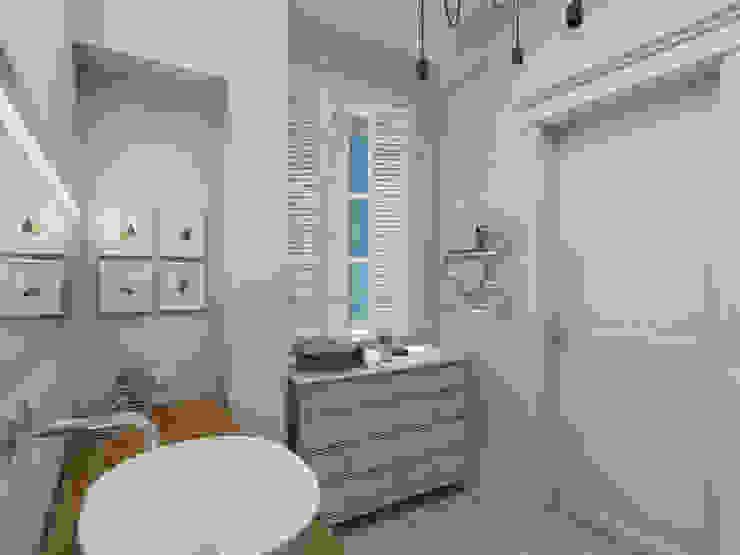 Ванная комната. Проект <q>Французское настроение</q>. Ванная комната в эклектичном стиле от Aleksandra Kostyuchkova Эклектичный
