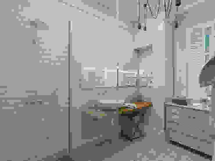 """Ванная комната. Проект """"Французское настроение"""". Ванная комната в эклектичном стиле от Aleksandra Kostyuchkova Эклектичный"""