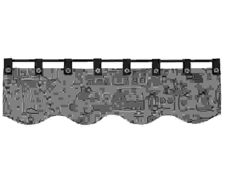 lambrekin rysowany czarną kreską: styl , w kategorii  zaprojektowany przez Drewniany Guzik,Wiejski