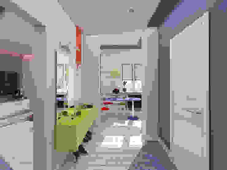 Однокомнатная квартира в стиле поп-арт Коридор, прихожая и лестница в модерн стиле от EEDS дизайн студия Евгении Ермолаевой Модерн