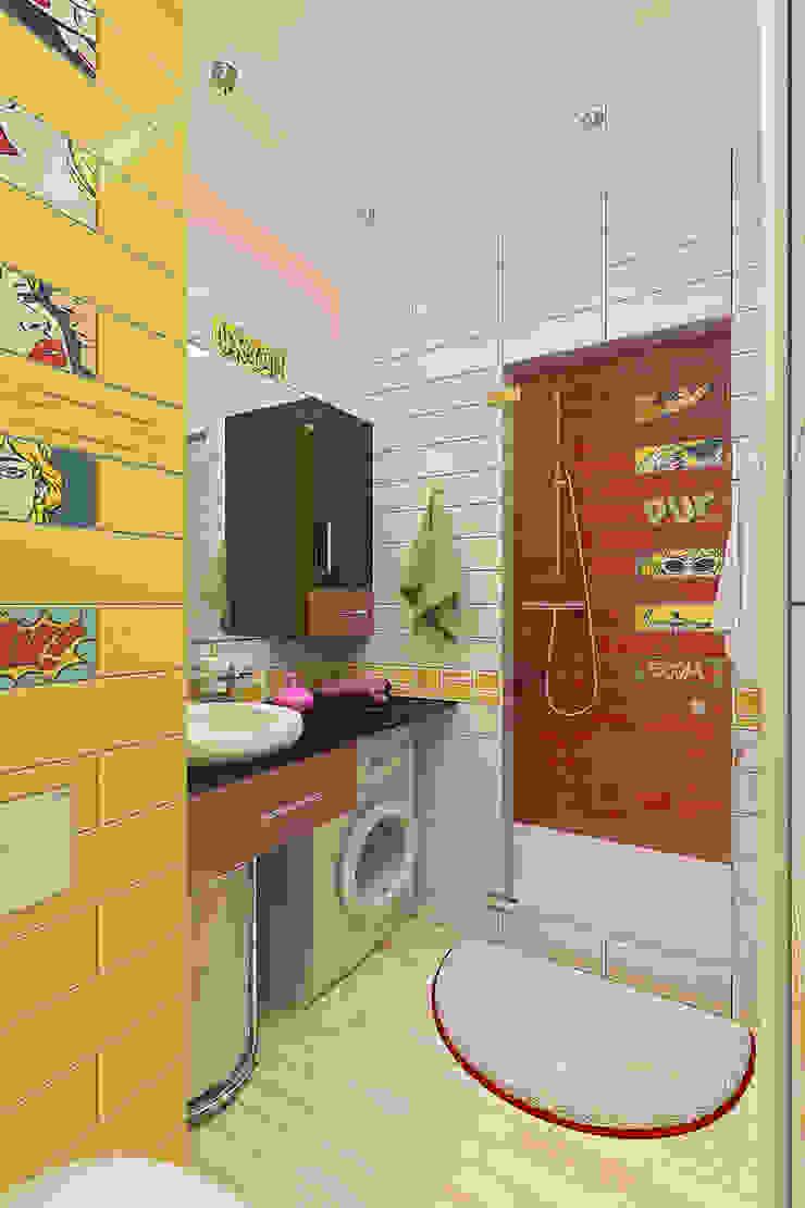 Однокомнатная квартира в стиле поп-арт Ванная комната в стиле модерн от EEDS дизайн студия Евгении Ермолаевой Модерн
