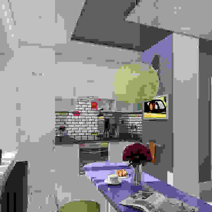 Однокомнатная квартира в стиле поп-арт Кухня в стиле модерн от EEDS дизайн студия Евгении Ермолаевой Модерн