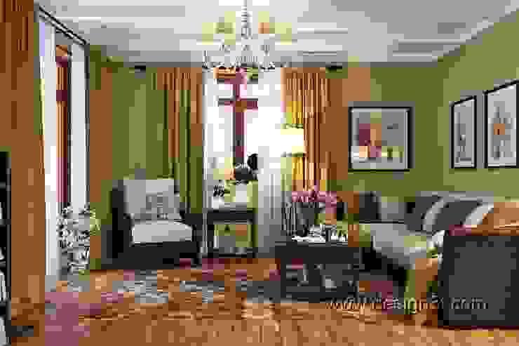 гостиная Гостиная в классическом стиле от студия Design3F Классический