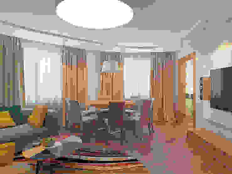 Квартира в экостиле в Санкт-Петербурге Гостиная в скандинавском стиле от olegkurgaev design Скандинавский