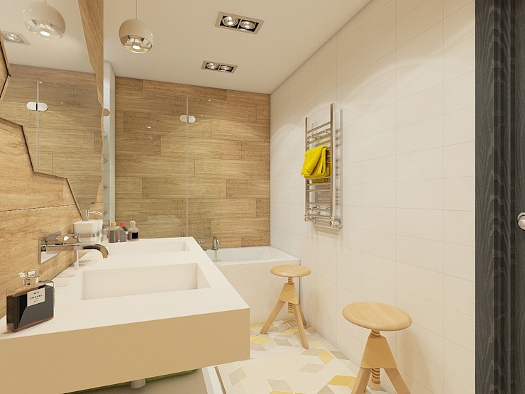 Квартира в экостиле в Санкт-Петербурге Ванная комната в скандинавском стиле от olegkurgaev design Скандинавский