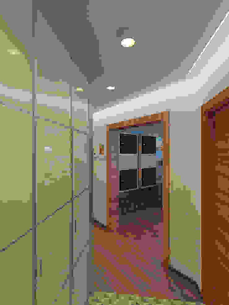 Квартира в экостиле в Санкт-Петербурге Коридор, прихожая и лестница в скандинавском стиле от olegkurgaev design Скандинавский