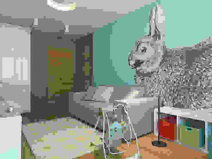 Квартира в экостиле в Санкт-Петербурге Детская комнатa в скандинавском стиле от olegkurgaev design Скандинавский