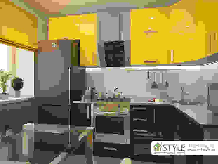 Квартира «Арт-хаус» Кухня в стиле лофт от Студия m2style Лофт