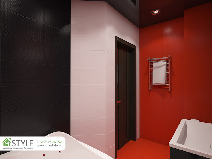 Квартира «Арт-хаус» Ванная комната в стиле минимализм от Студия m2style Минимализм