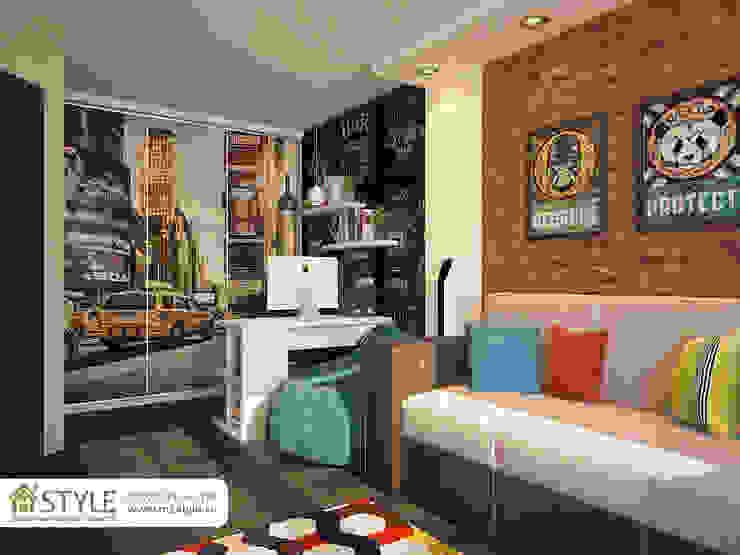 Квартира «Арт-хаус» Гостиная в стиле лофт от Студия m2style Лофт