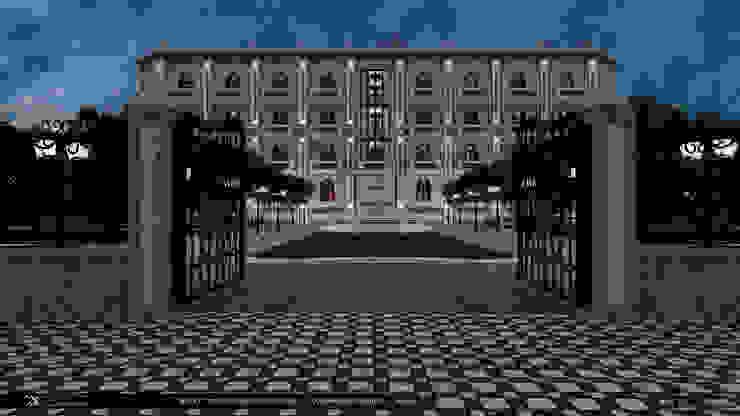 Гостиница <q>БРЕЗГ</q> проект <q>Классический образ Москвы</q> Дома в классическом стиле от Константин Паевский-PAEVSKIYDESIGN Классический