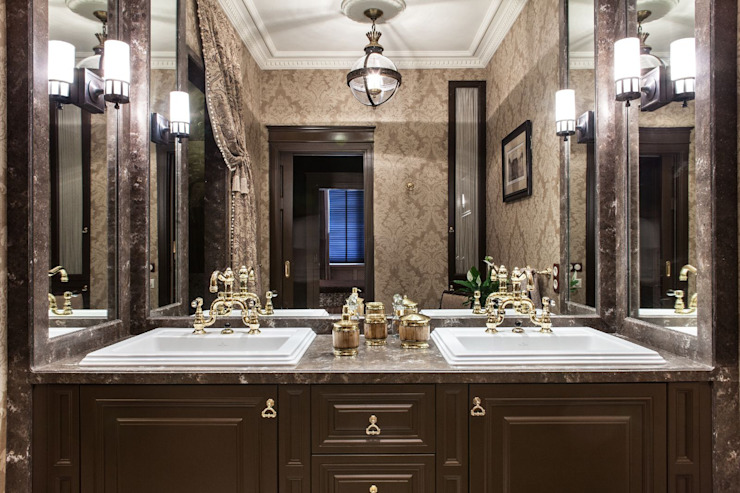 Вне времени Ванная комната в эклектичном стиле от VVDesign Эклектичный