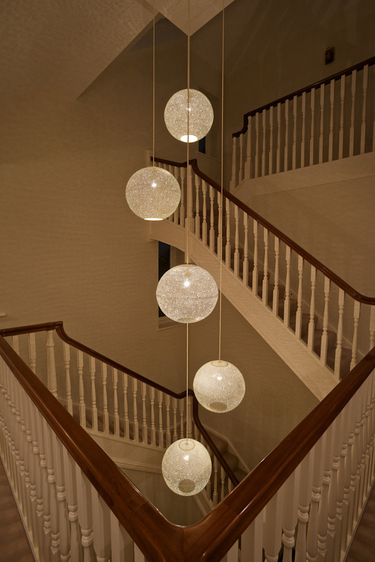 Rita 400 pendant light - stairwell: eclectic  by .., Eclectic Metal