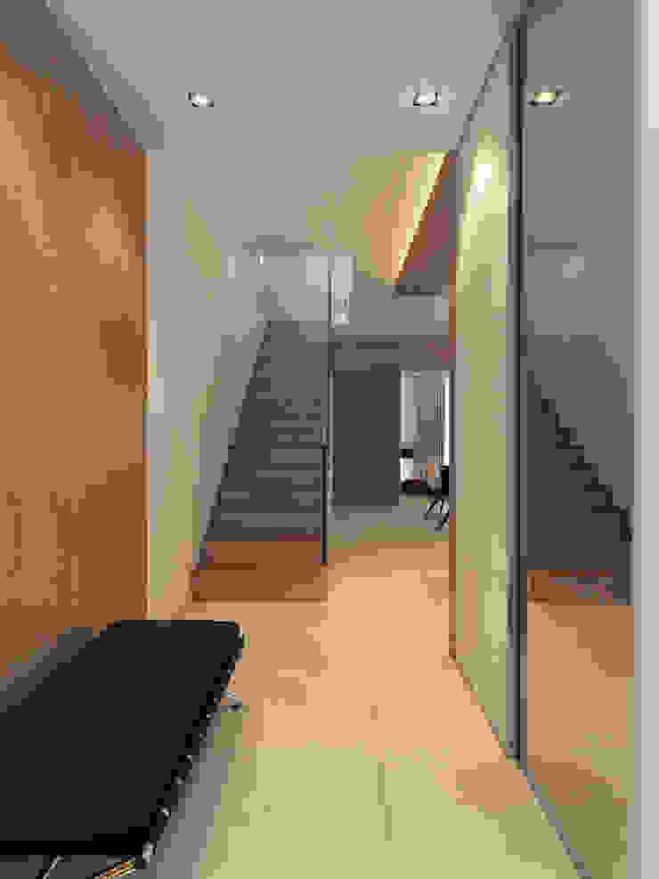 Секция 130 м2 в современном стиле Коридор, прихожая и лестница в стиле минимализм от selfDesign Минимализм