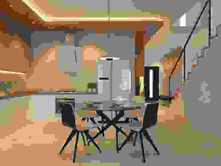 Секция 130 м2 в современном стиле Кухня в стиле минимализм от selfDesign Минимализм