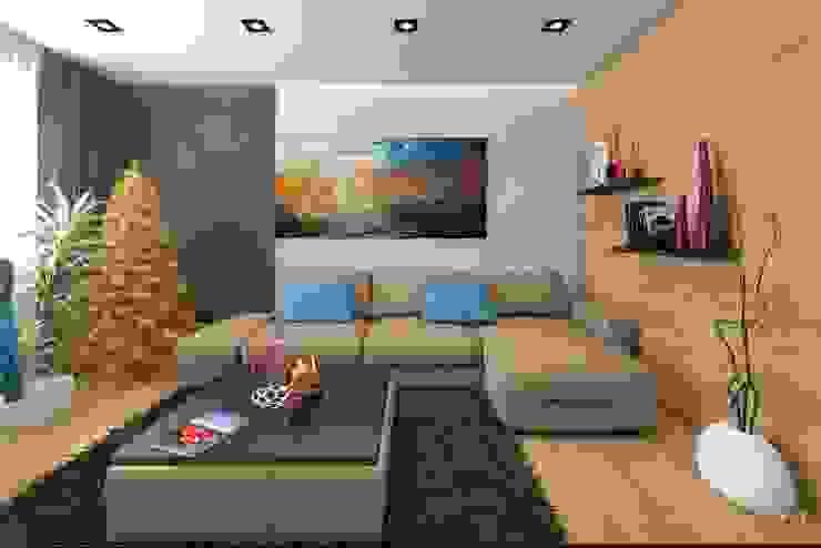 С Новым годом ! Гостиная в стиле минимализм от VIO design Минимализм
