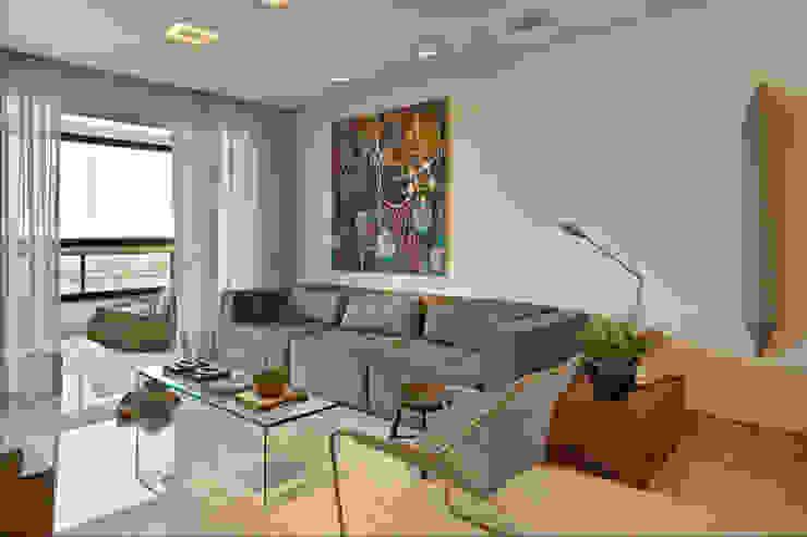 Apartamento Prainha Salas de estar modernas por Coutinho+Vilela Moderno