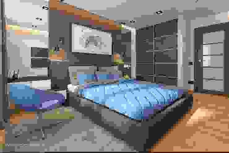 С Новым годом ! Спальня в стиле минимализм от VIO design Минимализм