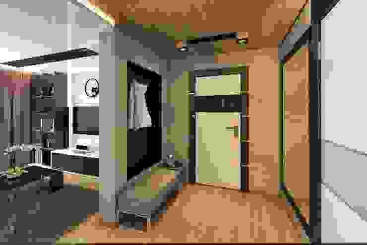 Уютное гнездышко Коридор, прихожая и лестница в стиле минимализм от VIO design Минимализм
