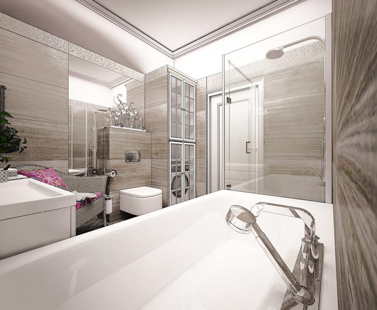 Выход из лабиринта. Ванная комната в эклектичном стиле от Частный дизайнер Оксана Пискарева Эклектичный