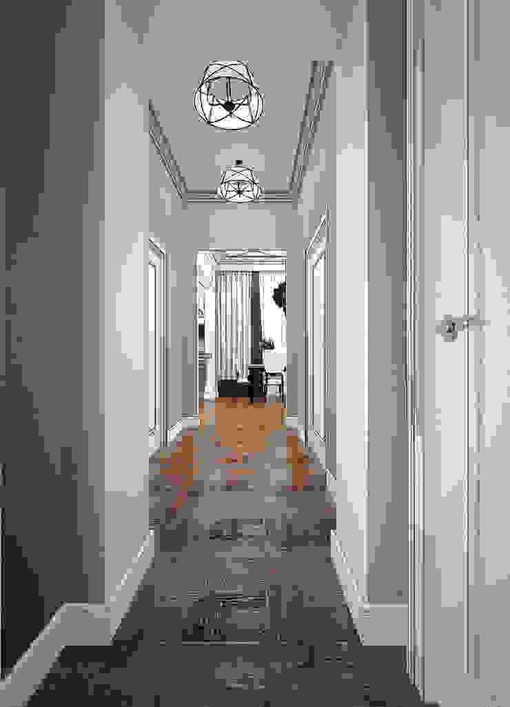 Выход из лабиринта. Коридор, прихожая и лестница в эклектичном стиле от Частный дизайнер Оксана Пискарева Эклектичный