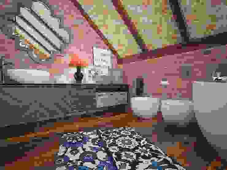 ЛОФТ в стиле JAZZ Ванная в стиле лофт от Частный дизайнер Оксана Пискарева Лофт