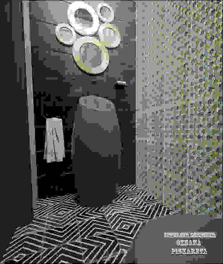 Гостевой санузел Ванная комната в эклектичном стиле от Частный дизайнер Оксана Пискарева Эклектичный
