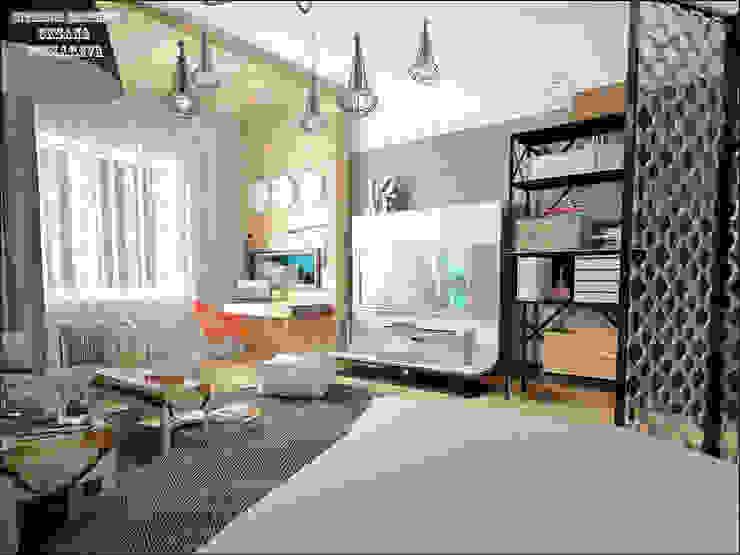 Комната старшей дочери Детские комната в эклектичном стиле от Частный дизайнер Оксана Пискарева Эклектичный