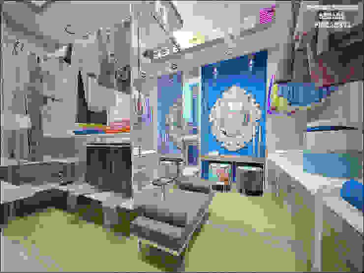 Гардеробная комната при спальне Гардеробная в эклектичном стиле от Частный дизайнер Оксана Пискарева Эклектичный