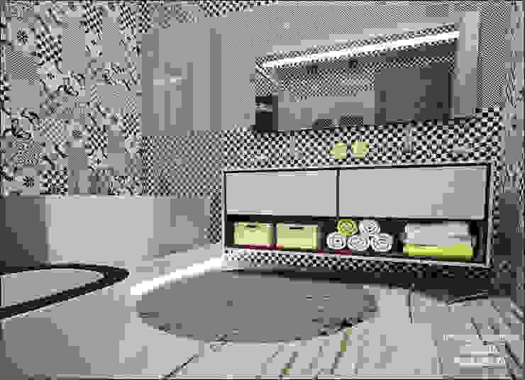 Ванная комната в детской зоне Ванная комната в эклектичном стиле от Частный дизайнер Оксана Пискарева Эклектичный