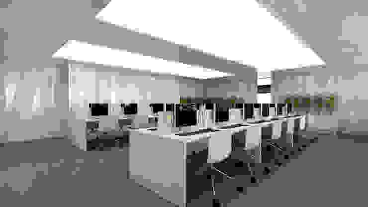 Asblkeu Offices Oficinas y tiendas de estilo minimalista de Alicia Toledo Minimalista