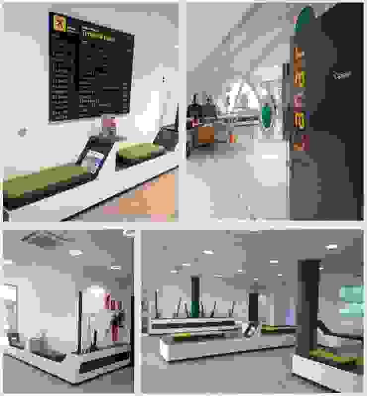Diseño Mobiliario Binter Canarias Aeropuertos de estilo industrial de Alicia Toledo Industrial