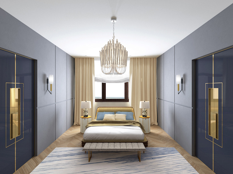 Спальня Спальня в эклектичном стиле от ELENA BELORYBKINA Эклектичный
