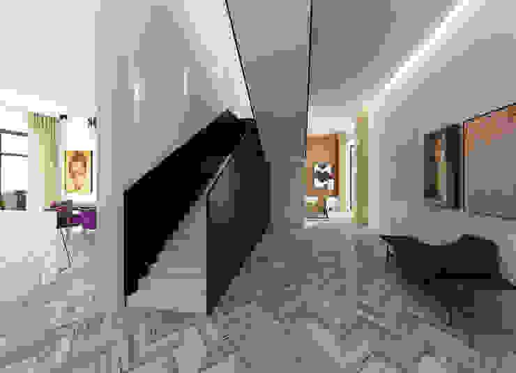 Холл Коридор, прихожая и лестница в эклектичном стиле от ELENA BELORYBKINA Эклектичный