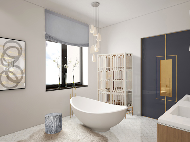 Ванная комната Ванная комната в эклектичном стиле от ELENA BELORYBKINA Эклектичный