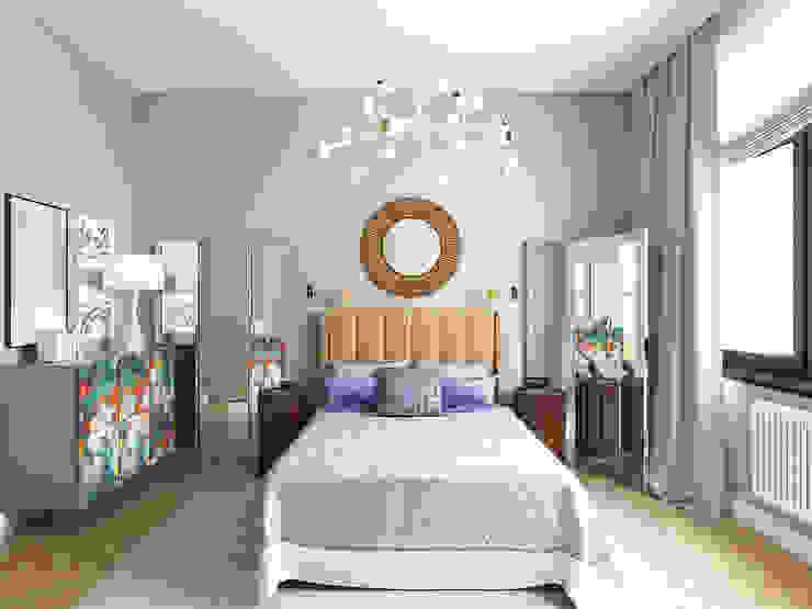 Гостевая спальня Спальня в эклектичном стиле от ELENA BELORYBKINA Эклектичный