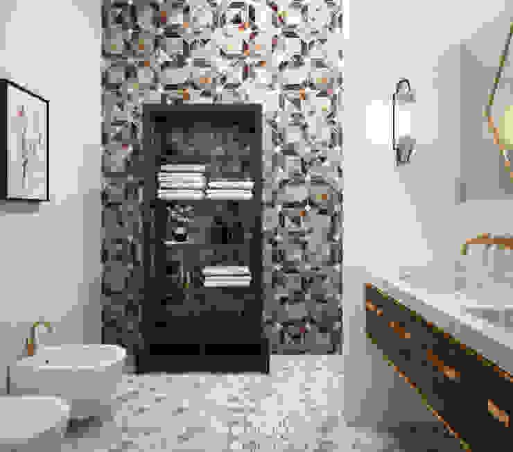 Гостевой санузел Ванная комната в эклектичном стиле от ELENA BELORYBKINA Эклектичный