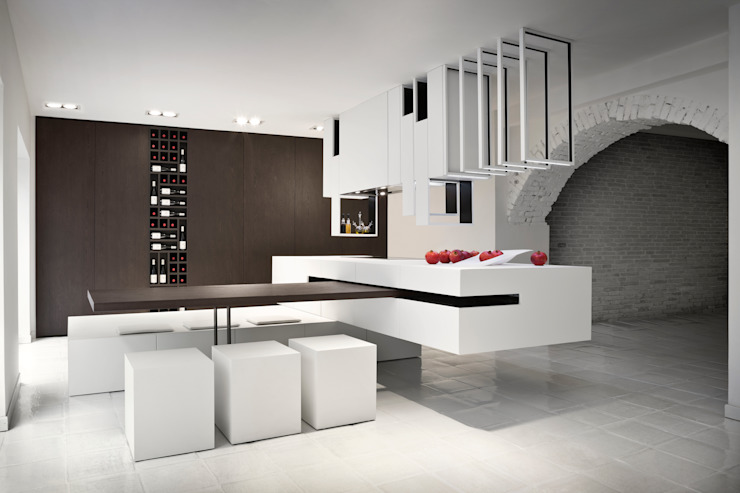 The Cut Kitchen de Alessandro Isola Ltd Moderno