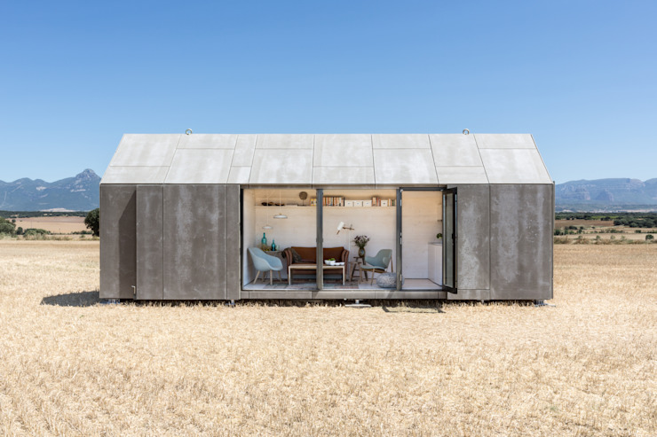 CASA TRANSPORTABLE ÁPH80 Country style house by ÁBATON Arquitectura Country
