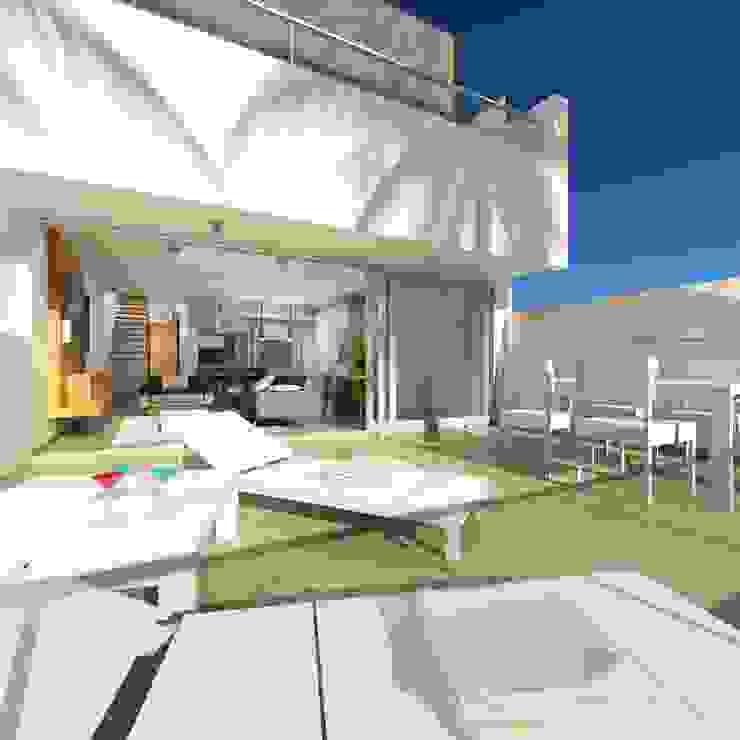 Urbanización La Caleta Balcones y terrazas de estilo moderno de Alicia Toledo Moderno