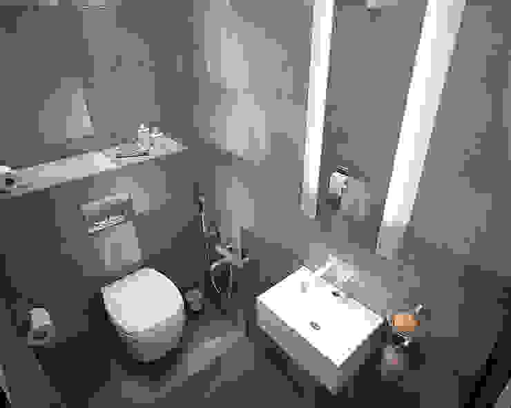 Современная квартира-студия. г. Казань Ванная комната в стиле минимализм от премиум интериум Минимализм