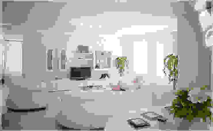 Роскошный Ар-деко Гостиная в классическом стиле от премиум интериум Классический