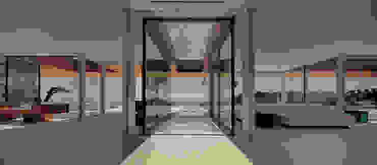 Minimalist corridor, hallway & stairs by THK Construcciones Minimalist
