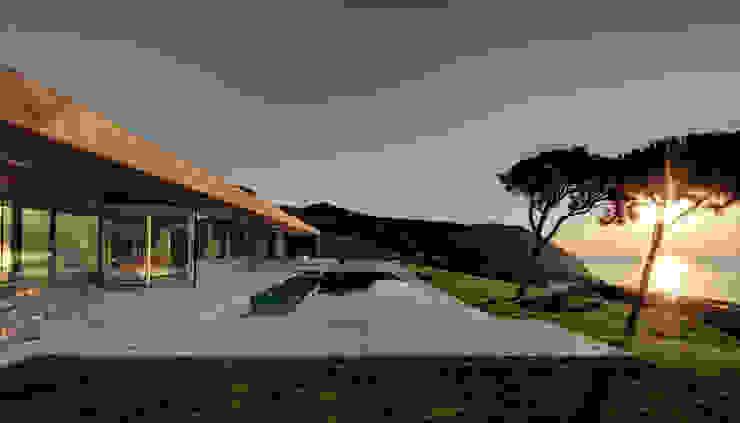 Rehabilitación de vivienda unifamiliar en la Costa Brava Jardines de estilo minimalista de THK Construcciones Minimalista