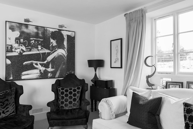 Photography for C-Squared Interiors - House in Charlbury Eclectic style living room by Adelina Iliev Photography Eclectic